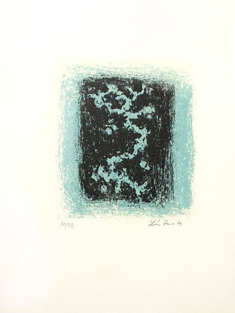 Léon Zack - Snow - Original Handsigned Lithograph - Abstract Expressionist Print by Léon Zack