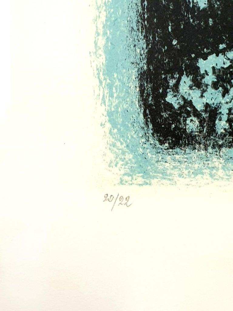 Léon Zack - Snow - Original Handsigned Lithograph - Gray Print by Léon Zack