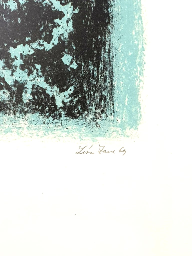 Léon Zack - Snow - Original Handsigned Lithograph 1969 Handsigned in pencil and numbered Edition of 22 32.5 x 25 cm  Léon Zack (1892-1980) Léon Zack was a Russian émigré who became a leading exponent of the Abstraction Lyrique movement, which was