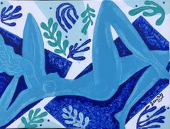 #4 Day on the Beach with Matisse, Painting, Acrylic on Canvas