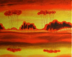 RED PLANET, Painting, Acrylic on Canvas