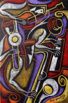 Swing Jazz, Painting, Acrylic on Canvas