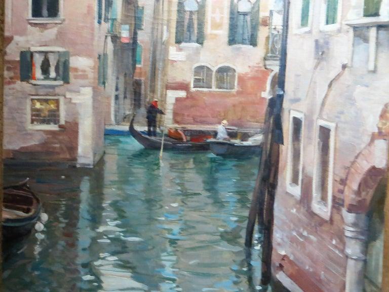 Venise Le Grand Canal by Léon Zeytline  - Painting by Leon Zeytline