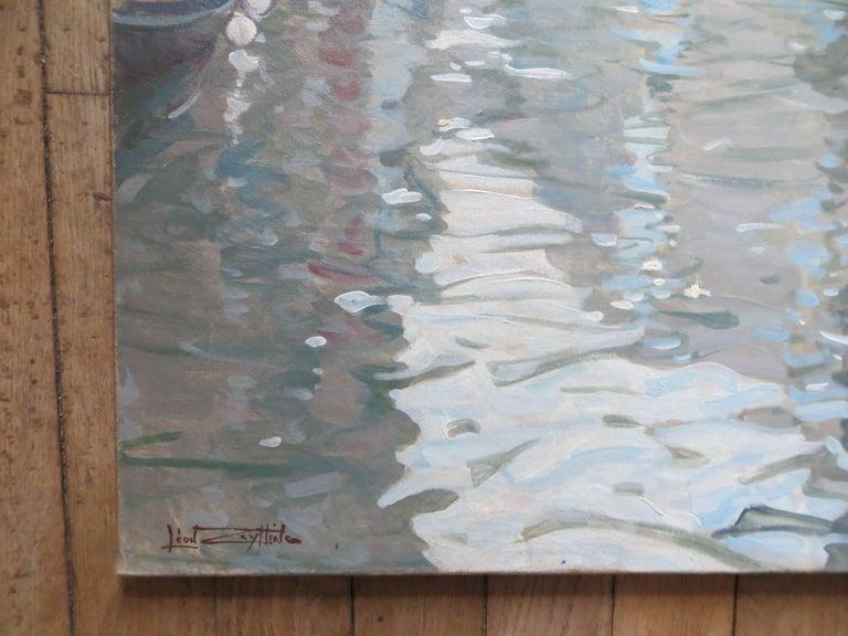 Venise Le Grand Canal by Léon Zeytline  - Post-Impressionist Painting by Leon Zeytline