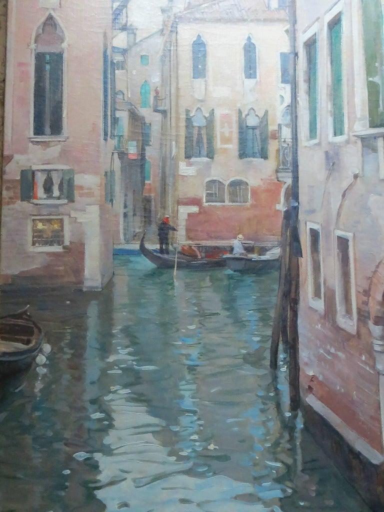 Leon Zeytline Figurative Painting - Venise Le Grand Canal by Léon Zeytline