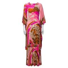 Leonard 1970s Geometric Angel Wing Dress