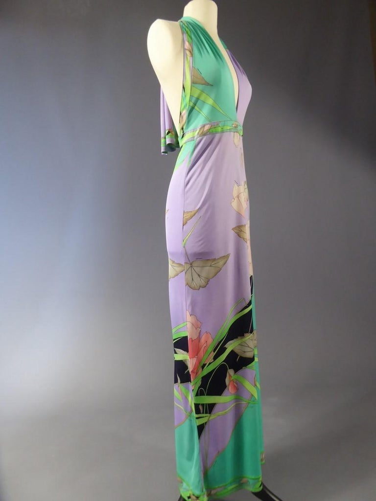 Léonard Backless Dress Circa 1990/2000 For Sale 1