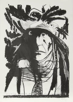 Spies on His Enemies - Crow, Lithograph by Leonard Baskin