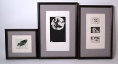 Three framed etchings, trial proofs