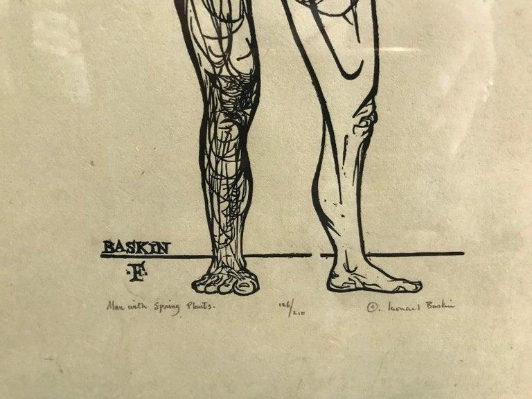 Mid-Century Modern Leonard Baskin Wood Engraving Limited Edition Print