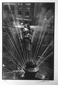 Fire Hydrant, Harlem, Black and White Photograph of African American Life 1960s