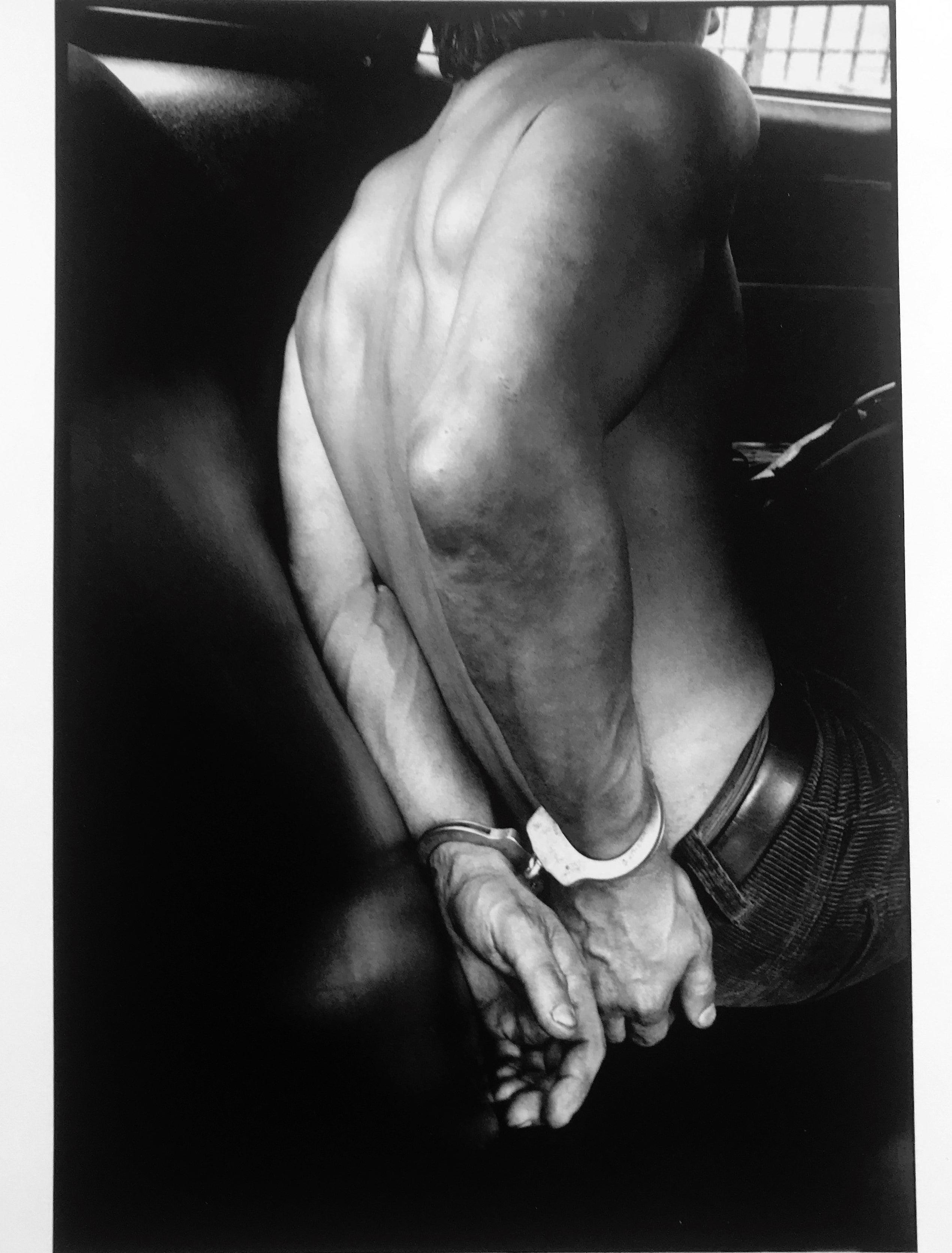 Handcuffed, New York City, Police 1970s Documentary Street Photography