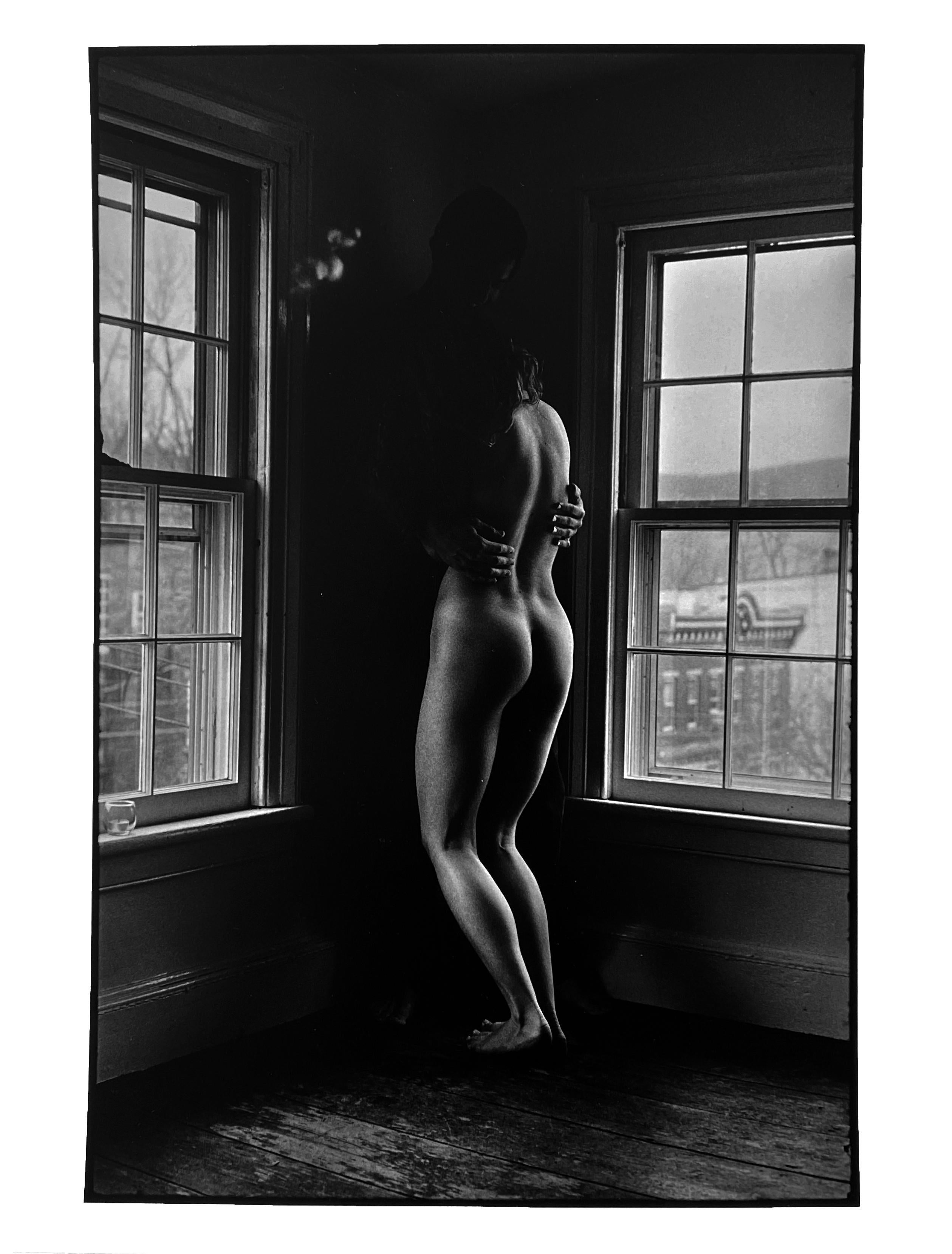 Kate Standing, Vintage Black and White Photography of Female Nude, Signed Print