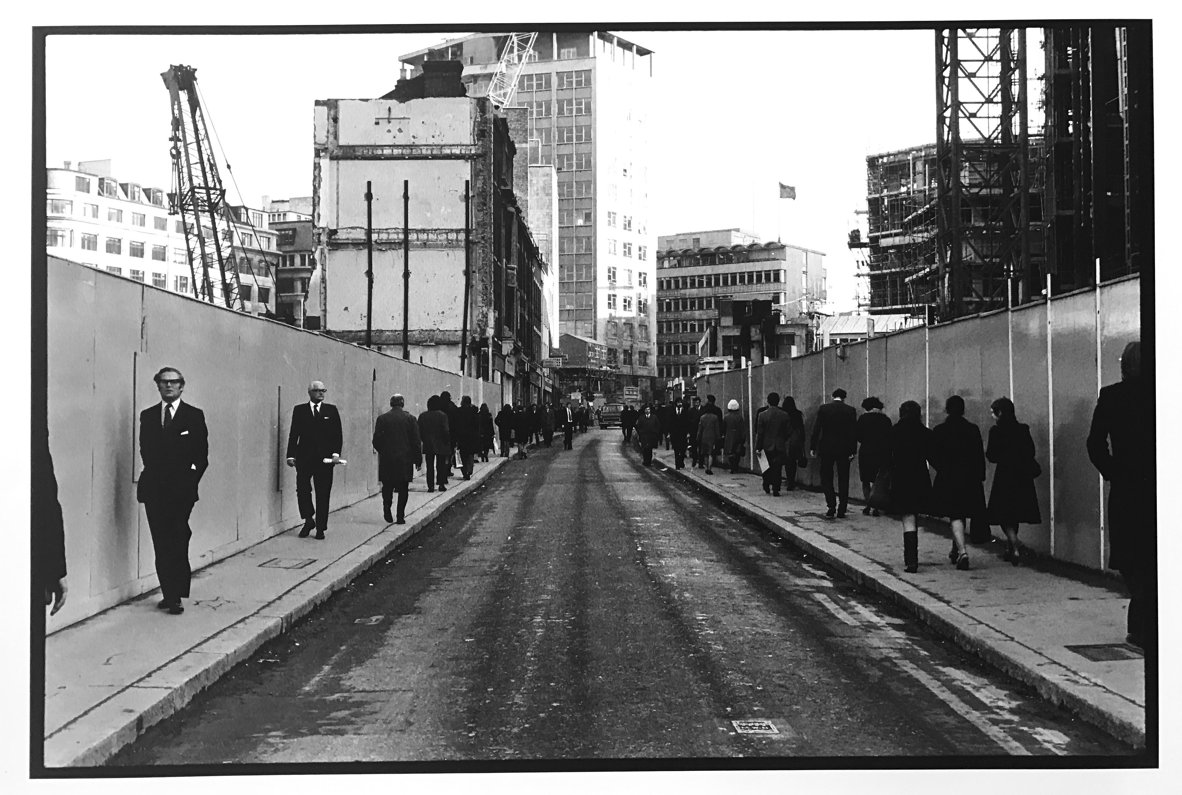 Businessmen in London, Street Photography England 1970s, Vintage Print