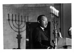 Martin Luther King, Black and White Documentary Photo of Political Activist MLK