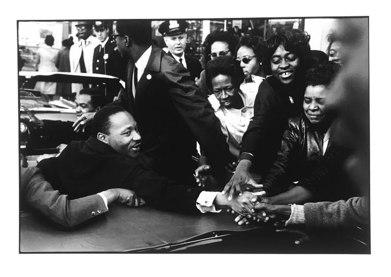 Leonard Freed Black and White Photograph - Martin Luther King, Black & White Documentary Photograph of MLK, Edition 12/24