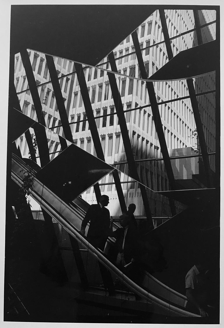 Leonard Freed Landscape Photograph - New York, New York, Vintage Black and White Photograph of Men in Suits 1980s