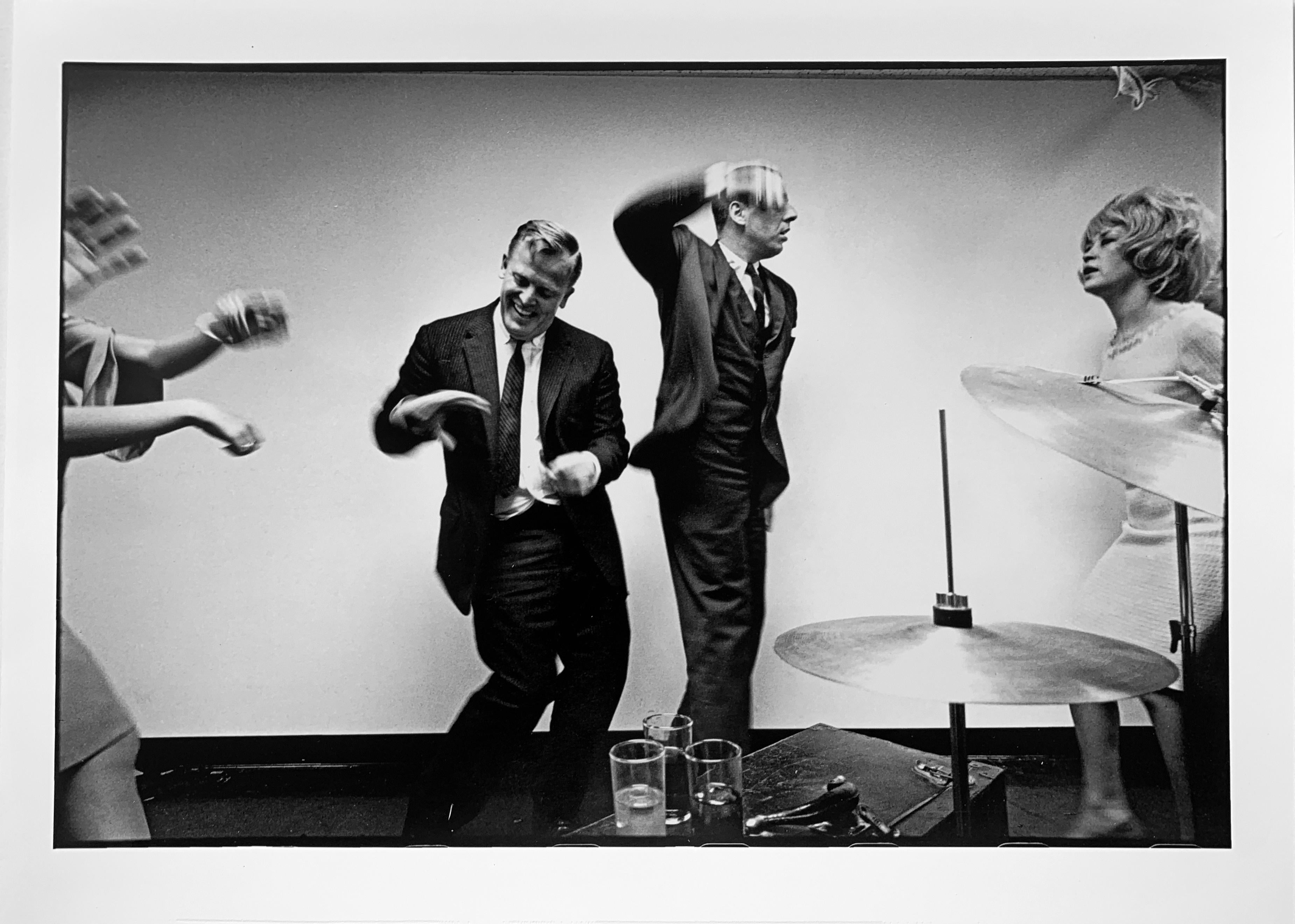 Office Party, New York City, Black and White Photography 1960s Dance Party