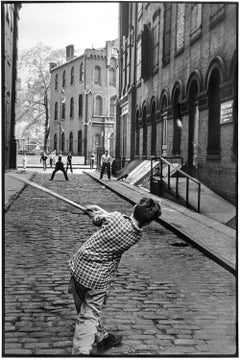 Stickball, Little Italy, New York City, Black and White Baseball Photography