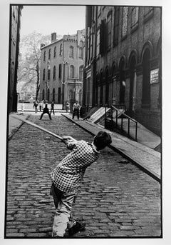 Stickball, Little Italy, NYC, Black and White Large Format Limited Ed Photograph