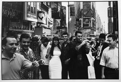 Times Square, New York, 2002, by Leonard Freed, signed print, stamped vintage