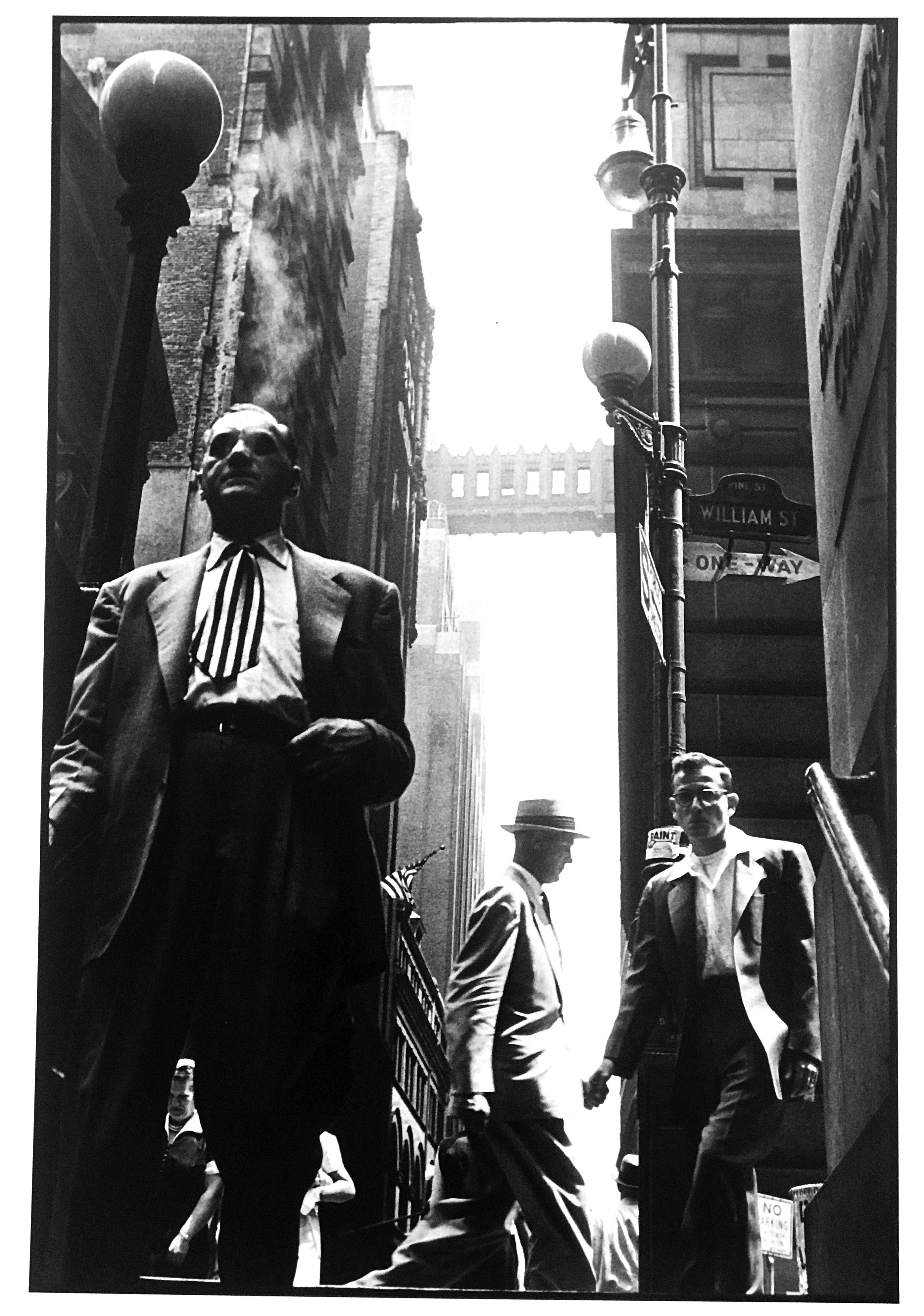 Wall Street, New York City, Black and White Documentary Photography 1950s