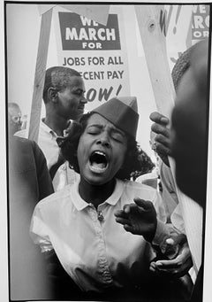 Woman at Protest, March on Washington, African-American Civil Rights Photography