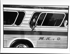 Woman on Bus, Washington Protest, African-American Civil Rights Photography