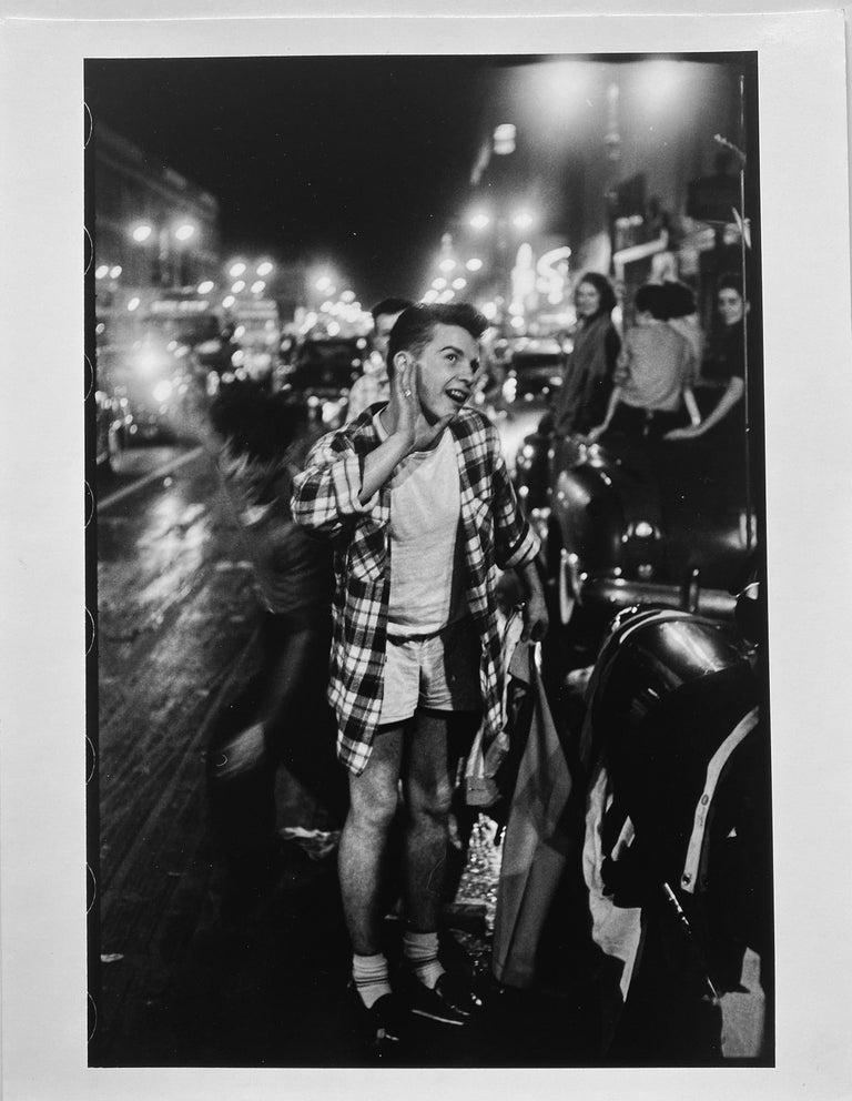Leonard Freed Portrait Photograph - World Series Win, New York City, Black and White Baseball Photography 1950s