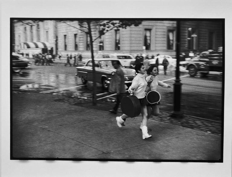 Leonard Freed Figurative Photograph - World Series Parade, New York City, Black and White Baseball Photography 1950s