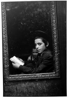 Yeshiva Boy, New York City, Black and White Documentary Photo of Jewish Children