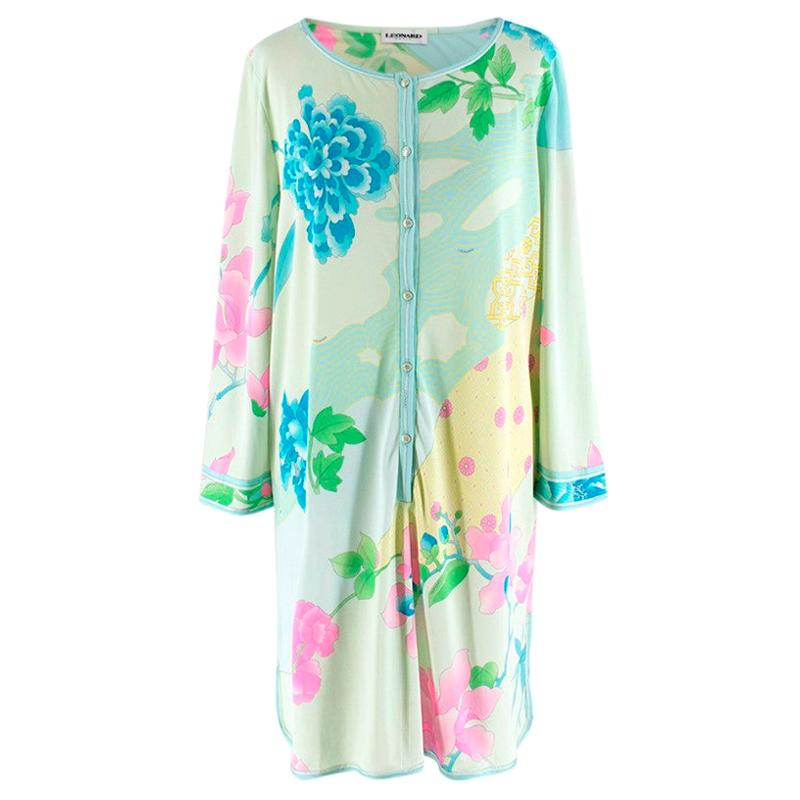 Leonard Green & Blue Printed Shirt Dress - Size US 10