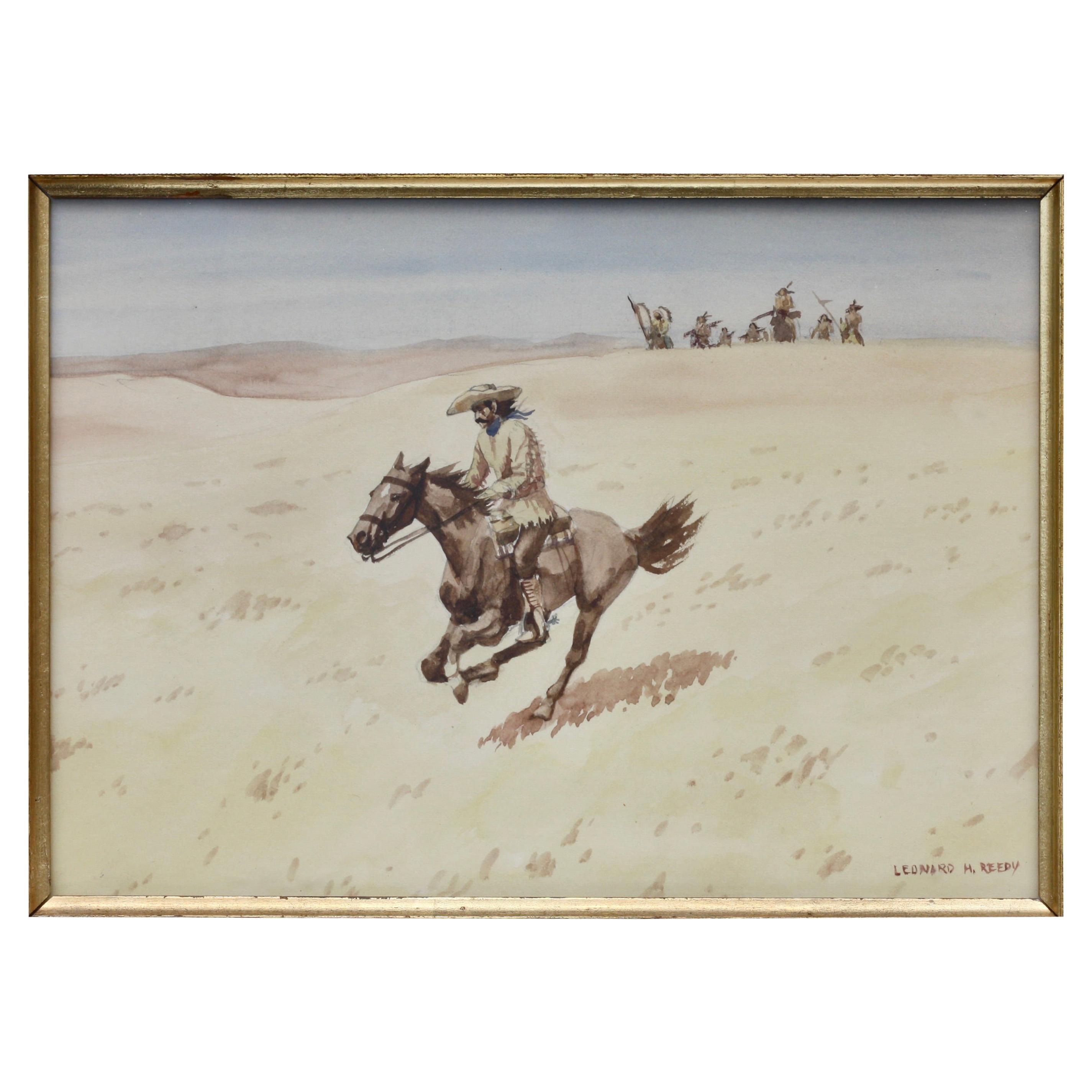 Leonard Howard Reedy Attack on the Pony Express