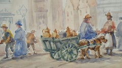 20th Century Landscape Drawings and Watercolors