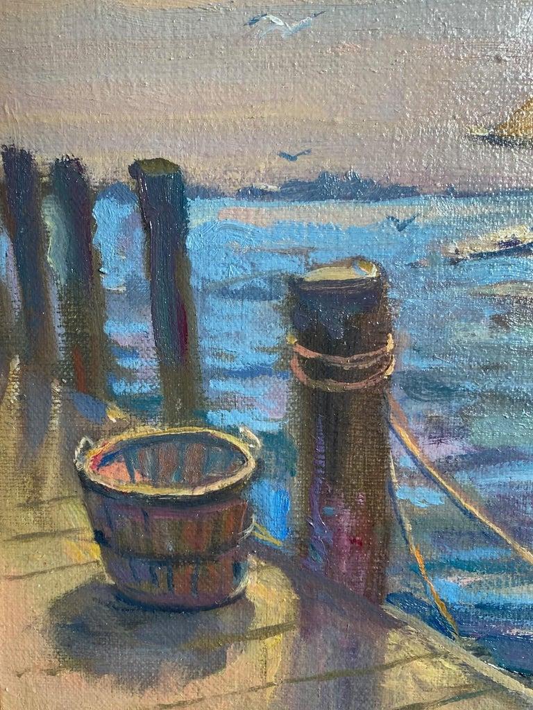 Afternoon Sail, original marine landscape For Sale 1