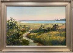 Beach Pathway, original 24x36 impressionist marine landscape