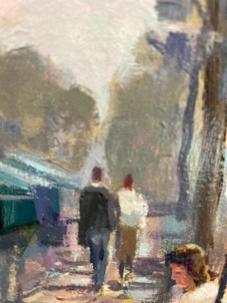 Book Stalls of Paris, original French impressionist landscape For Sale 1