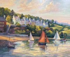 Brittany Coast, original 48x60 French impressionist marine landscape