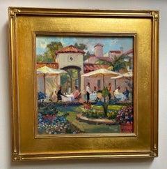 Cafe Flora, Palm Beach, Florida impressionist landscape