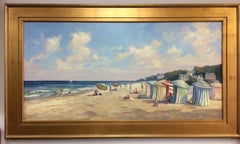 French Seashore, original 24x48 French impressionist landscape