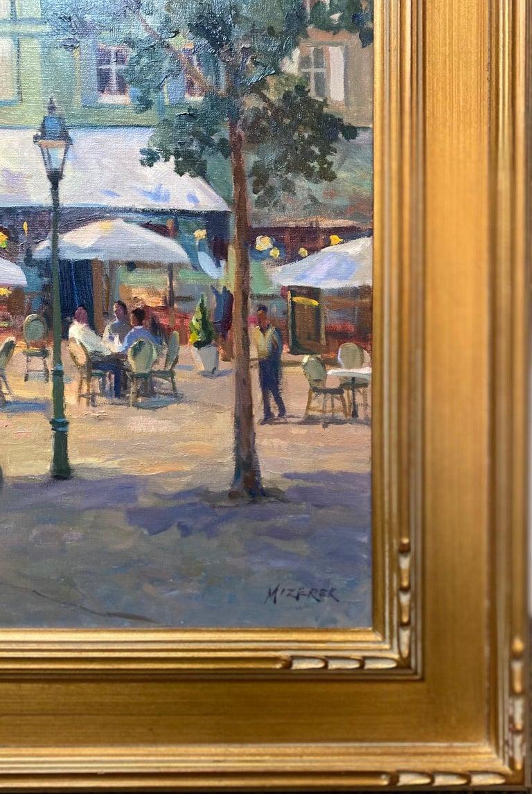 Honfleur Cafe, original 30x40 French Impressionist marine landscape For Sale 5