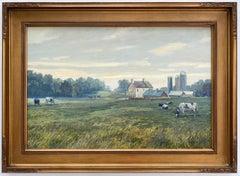 Misty Morning, original 20x30 impressionist landscape