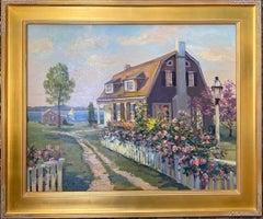 Seaside Cottage, Martha's Vineyard original 24x30 impressionist marine landscape