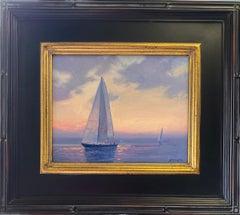 Sunset Sail, original marine landscape
