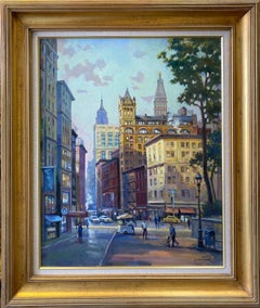 Union Square West, NYC, original 30x24 impressionist landscape