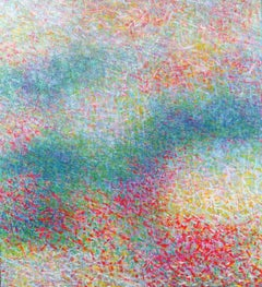 """Colorfield #388"", American Modernist, Color Field Abstraction, 1989"