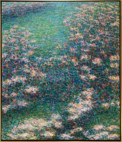 """""""Elle's Garden Bed"""", American Modernist, Color Field Abstraction, 1980's"""
