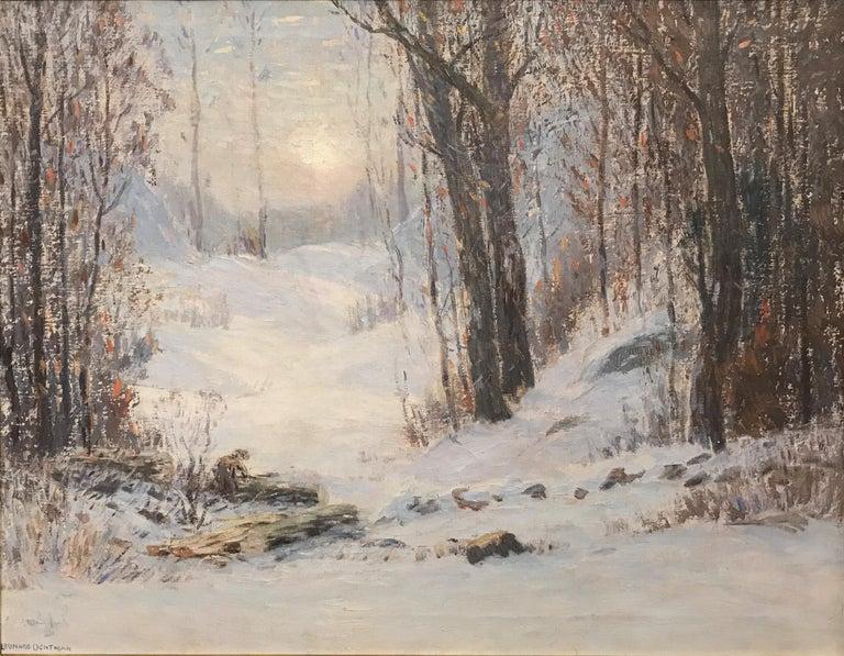 Sunlight Through The Trees - Painting by Leonard Ochtman
