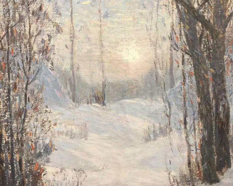 Sunlight Through The Trees - American Impressionist Painting by Leonard Ochtman