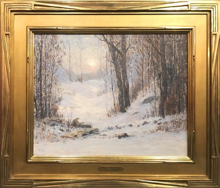 Leonard Ochtman Landscape Painting - Sunlight Through The Trees